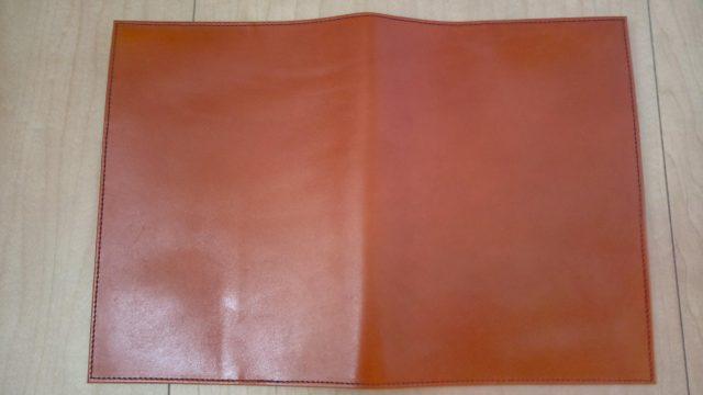 手帳カバーの表面